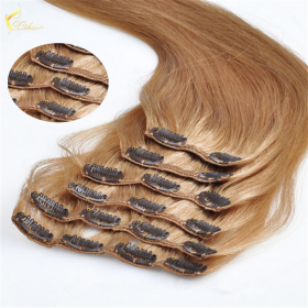 China Indian hair unprocessed virgin brazilian hair straight hair clip in hair extensions for women on sales