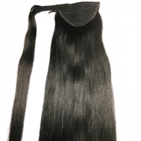 La fábrica de China Natural black  unprocessed human hair ponytail factory cheap price hair