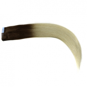 China Ombre 2T color no mixed tangle free shedding free PU tape in hair extensions factory