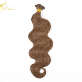 China One Donor 100% human hair factory price i tip curly hair extensions fábrica