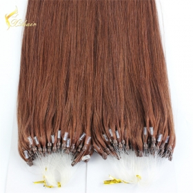 La fábrica de China Perfect quality silky straight micro ring 100% malaysian straight virgin hair
