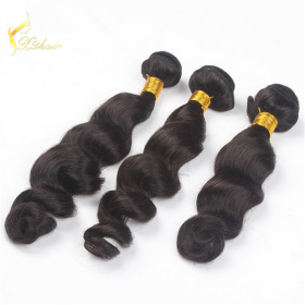 Кита Top Grade Virgin Wholesale Brazilian Loose Body Wave Human Hair Weaving завод