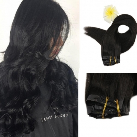 China Top quality Good Feedback 100% Human Clip In Hair Extension factory