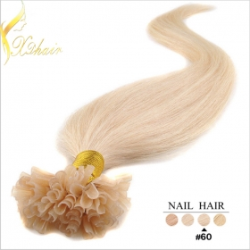 China Unprocessed cheap nail tip hair on sales