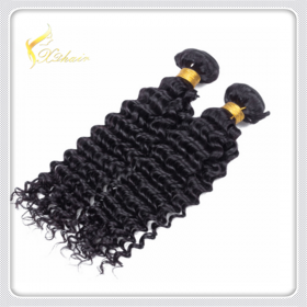 China Wholesale Raw Unprocessed Virgin Human Hair 7A, 8A, 9A Grade Brazilian Deep Curl Hair Weaving factory