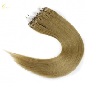 La fábrica de China Wholesale micro loop hair extensions easy loop 1g micro bead hair extension double bead brazilian micro ring loop hair
