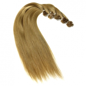 China Wholesale price remy italian keratin double drawn keratin bond hair extension factory