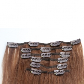 Кита Top grade thickness grade 8A 220g clip in hair extensions завод