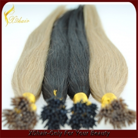 China cheap remy human hair 100% Virgin Straight I Tip Hair on sales