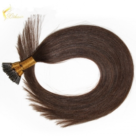 Chine hot sale dark color i tip hair 100% remy 1g stick tip hair extensions usine