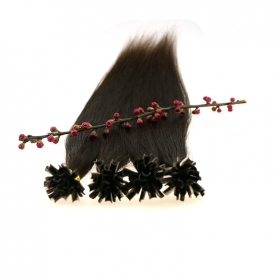 La fábrica de China kertain Dark Color brazilian Remy stick tip hair extension
