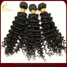 China natural blonde curly human hair extensions factory