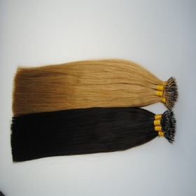 China pure brazilian  nano ring virgin remy hair extension factory