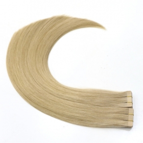 China wholesale double sided tape hair extension Remy Virgin Brazilian Human hair factory