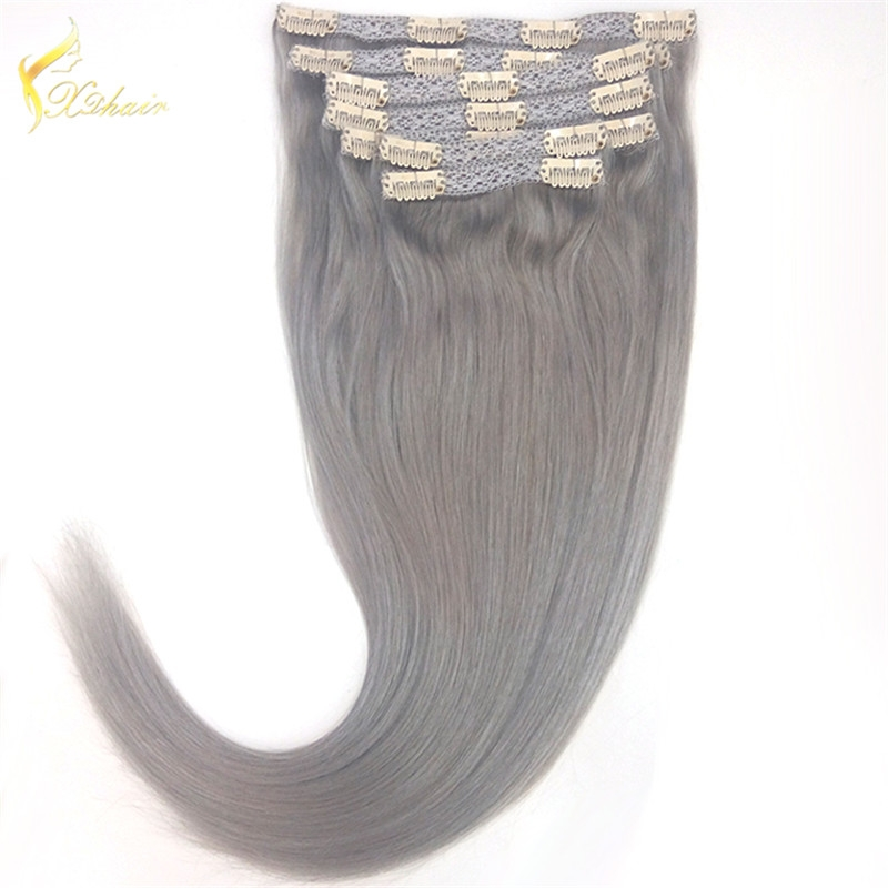 100% Real Remy Clip in Hair Extensions 16-22inch Grade 8A Natural Hair Full Head Standard Weft 8 Pieces