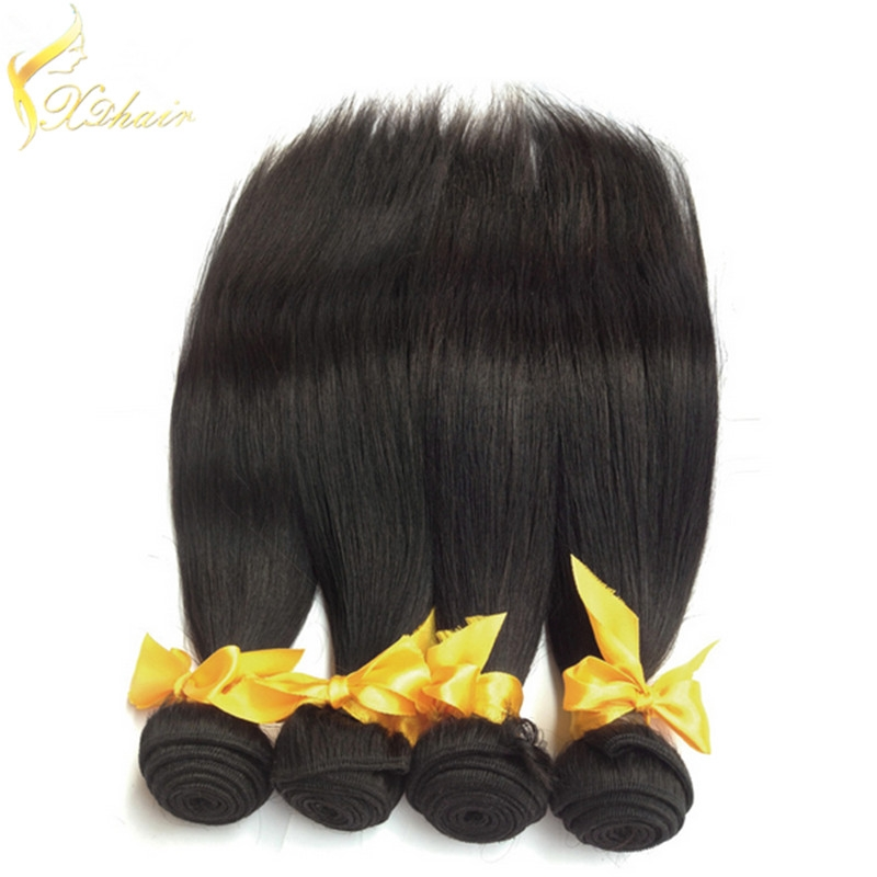 100% Remy Brazilian Human Hair Unprocessed Natural Black Color Weft Weave Body Wave18
