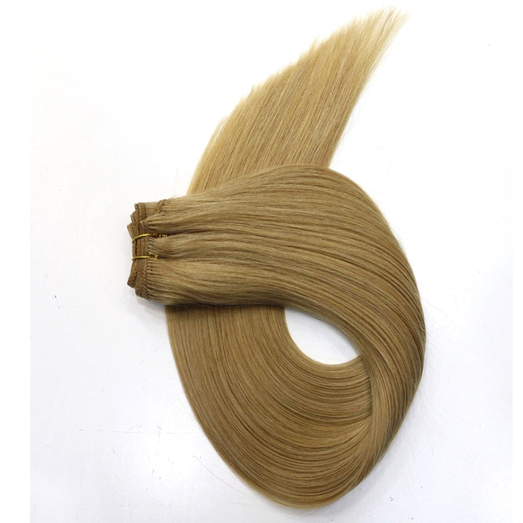 100 grams per piece double drawn 100% Brazilian virgin remy human hair weft double weft silky straight wave hair weave