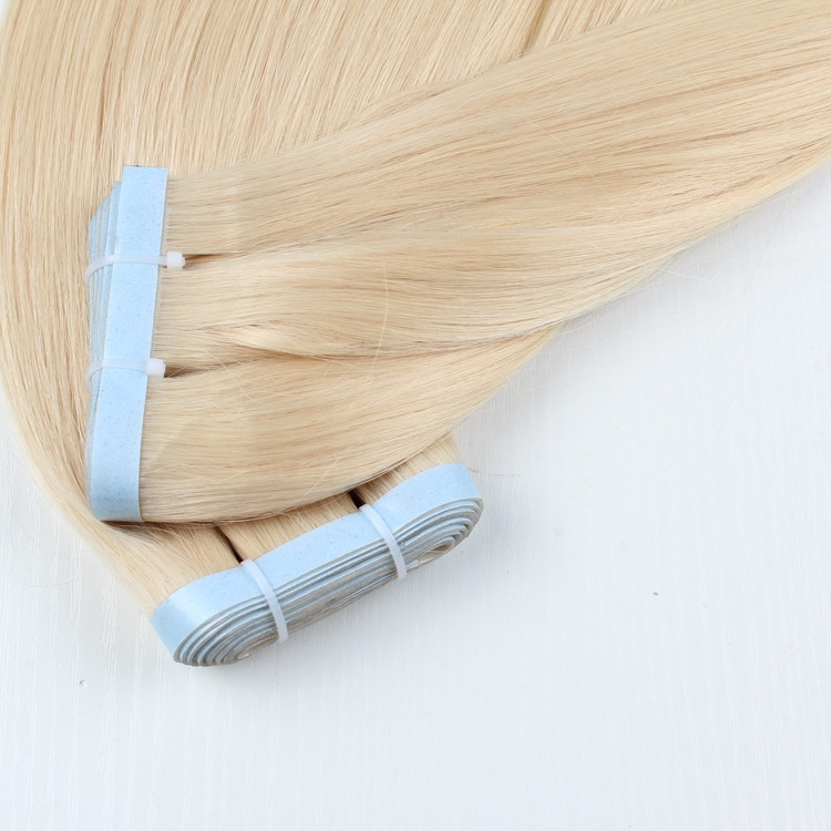 100% human hair hand tied pu tape hair super thin skin hair pieces