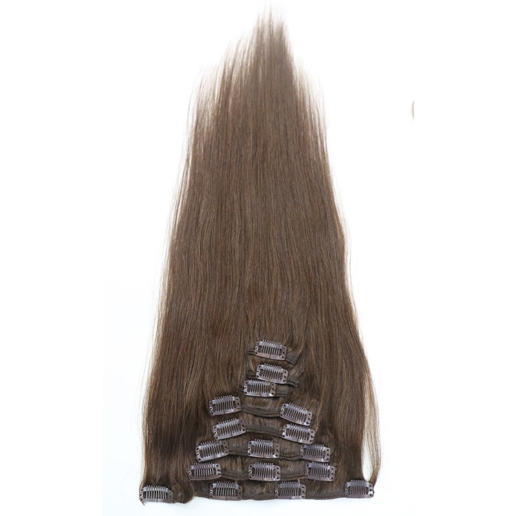2017 hot new product silky straight clip in hair extensions