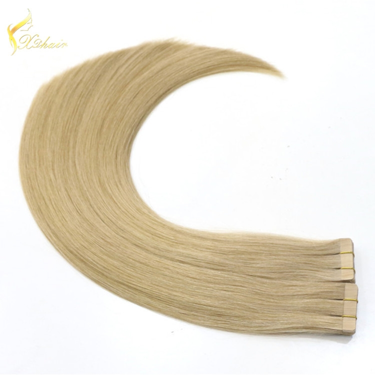 20inch 100% remy human hair pu weft brazilian hair extension for white women