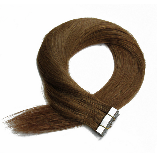 22 Inch Double Drawn 100% European Hair Tape Hair Extension Light Color