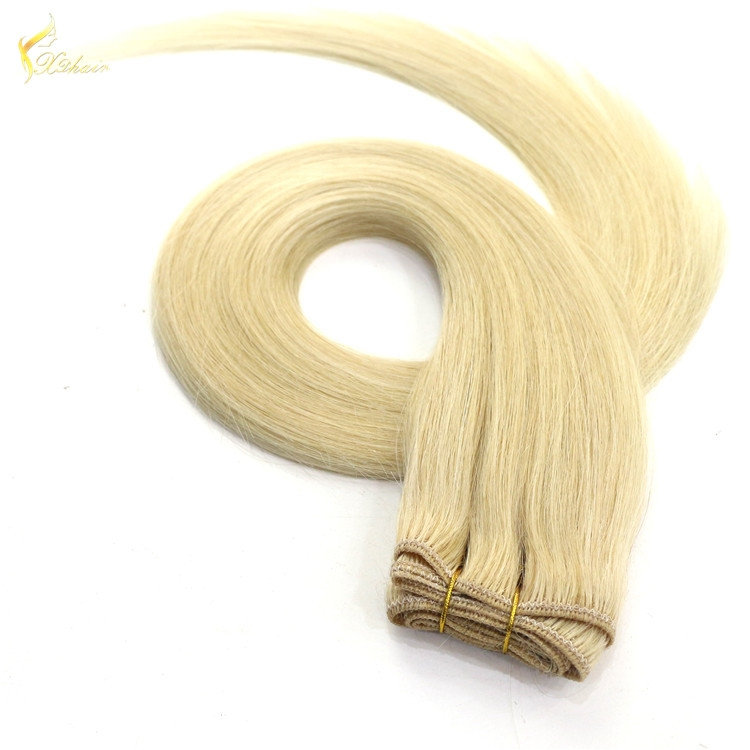 24 inch 100% Unprocessed Straight Bleach Blonde(#613) Remy Human Hair Weft Extensions 100 Grams