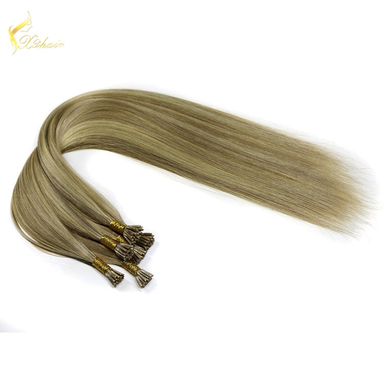 8-30 inch best quality vrigin remy hair 100% Europe hair extension.Double drawn i hair extensions.
