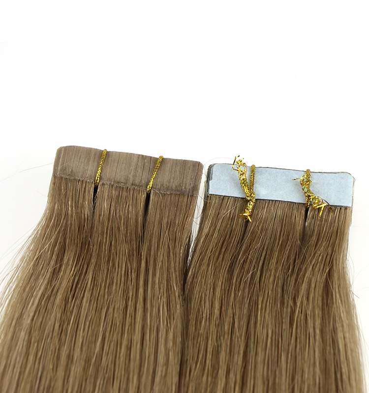 8a grade 2# brown dropshipping indian temple hair skin weft 100% virgin brazilian indian remy human hair PU tape hair extension