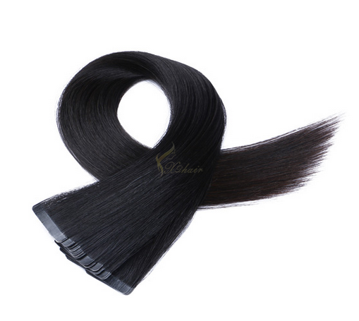 Best Quality Natural Black Color Tape In Hair Extensions Human Hair at Wholesale Price