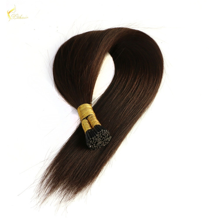 Best Selling Factory Price Soft Smooth 100% Temple Indian Hair Blonde i tip hair 18inch