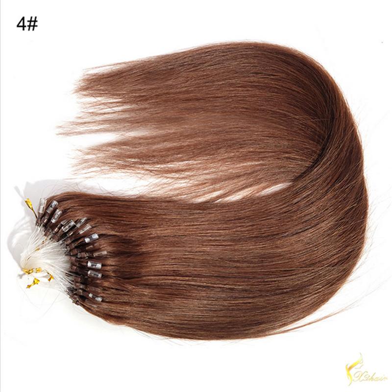 Brazilian Micro Ring Loop Hair Extensions Silky Straight Human Hair