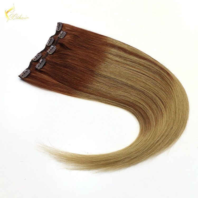 Cheap 100 120 160 220 grams double weft 100% remy brazilian human 30 inch hair extensions clip in