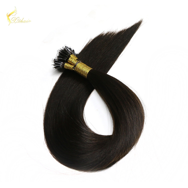 Cheap Price 100% Virgin Remy Indian Hair Extension Nano Loop Ring Hair For Women on sale