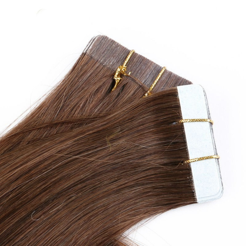 China Supplier Grade8a  Russian Cheap Virgin Remy Human Hair Double Drawn Colorful Tape Hair Extensions
