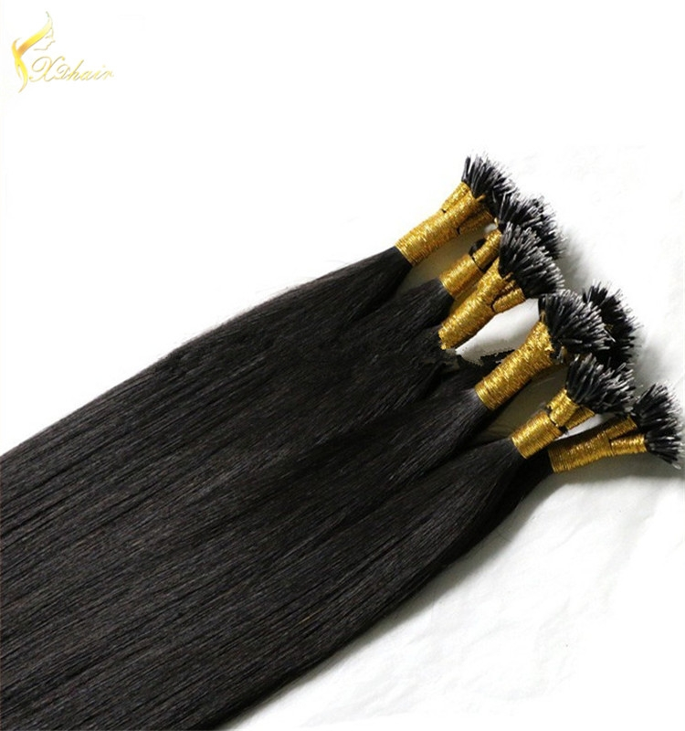 Double Drawn 0.8g 1g Remy Hair Extension Nano Ring Hair Extensions