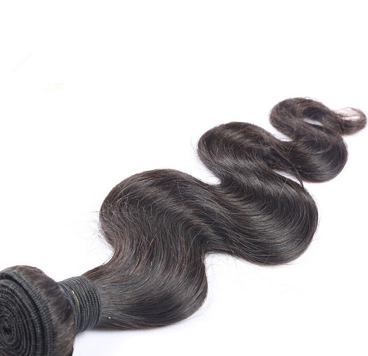 Double Machine Weft 100% brazilian body wave 8A grade 8-30 inch natural color human hair weft 100g per piece wholesale