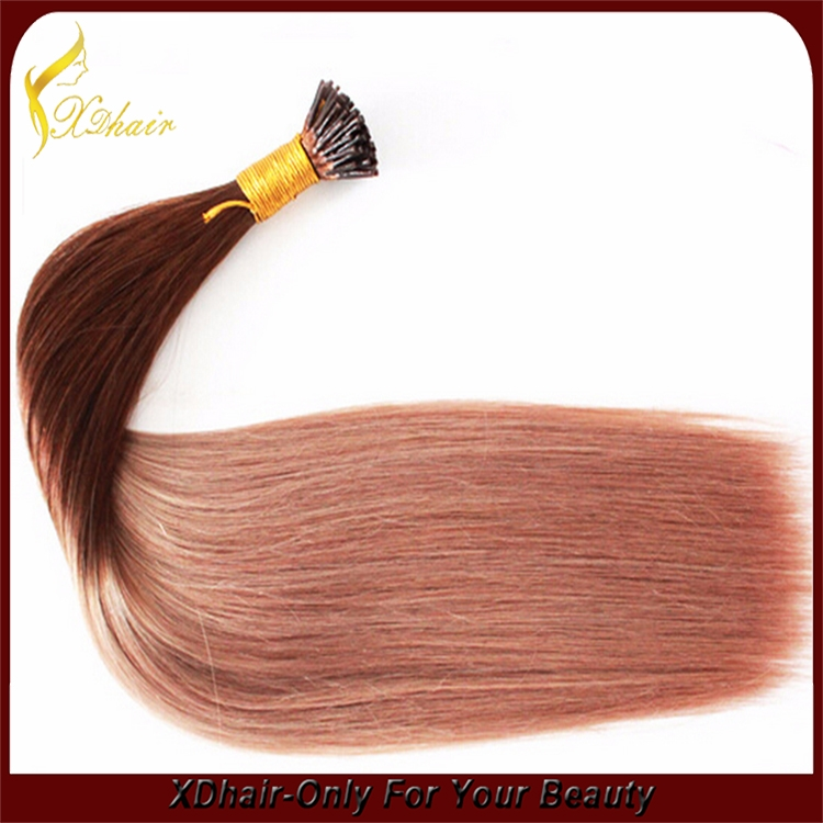 First selling brand name best colored indian virgin remy hair two first selling brand name best colored indian virgin remy hair two tone i tip hair extension pmusecretfo Images