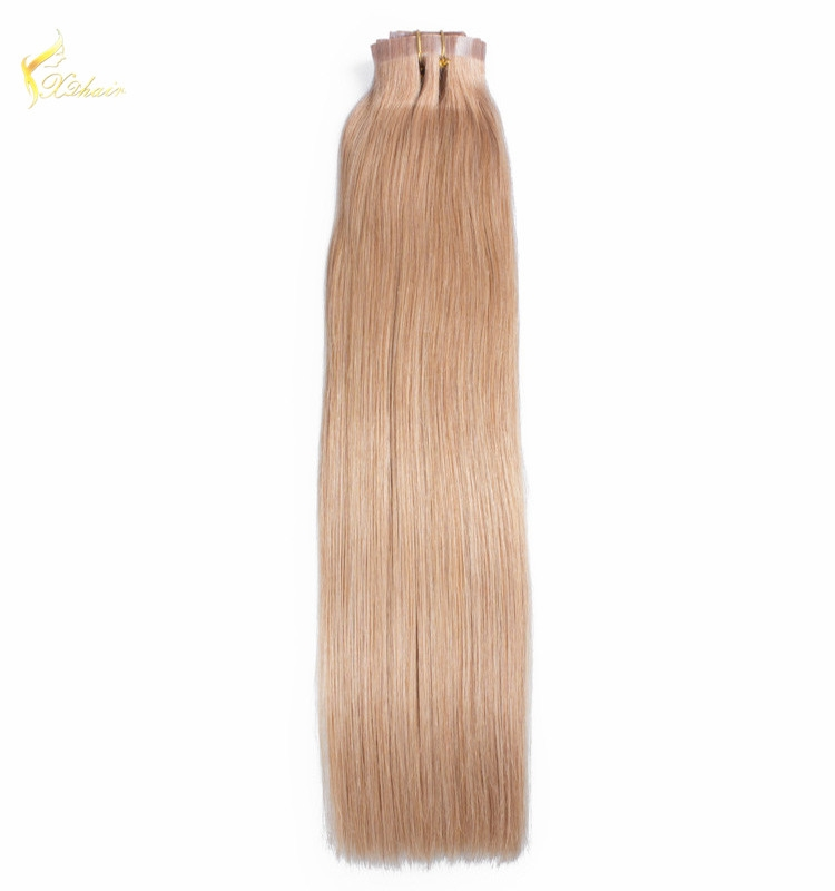 Hot New Products Factory Wholesale PU/skin weft clip in human hair extensions
