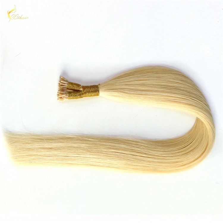 Hot sale Itip body wave virgin brazilian hair extension 100 cheap remy I tip #60