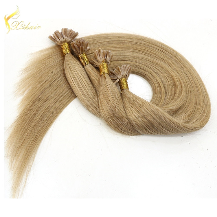 Hot seller 100% remy Human cuticles Hair Italian Keratin top quality indian remy stick tip double drawn mini tip hair