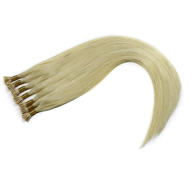 In stock blonde #60 color unprocessed I stick tip hair extensions