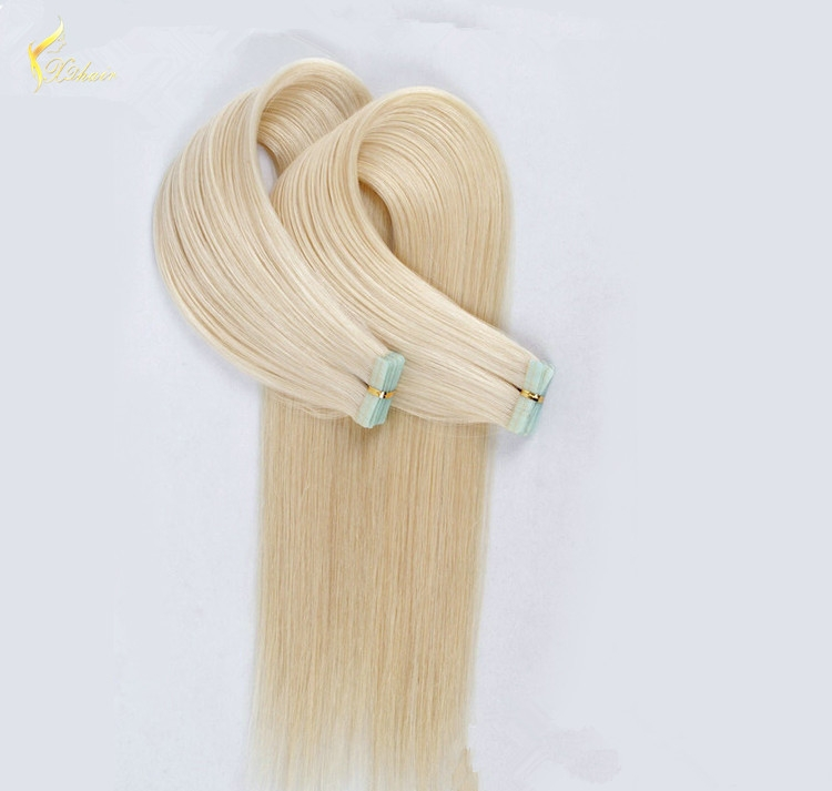 Indian Virgin Hair Silky Straight Double Drawn Human Hair Extensions