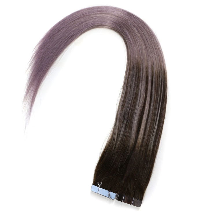Natural color 100% unprocessed PU tape in hair extensions