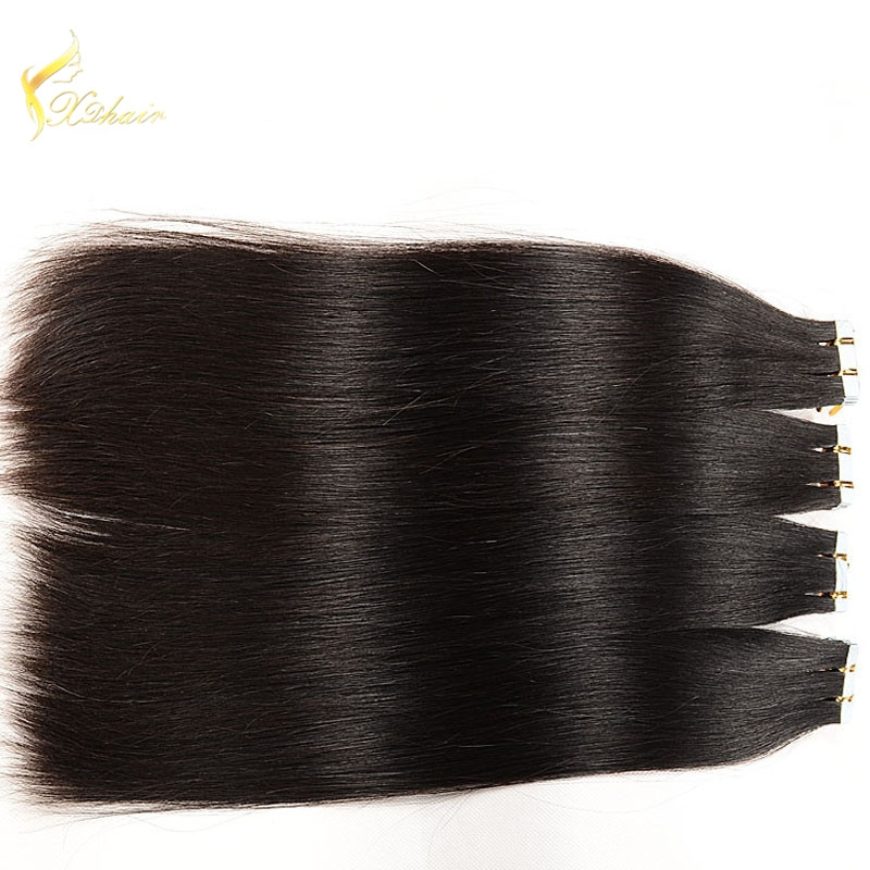 New Arrival #1 Silk Straight Tape in Human Hair Extensions Thick Brazilian Hair Bundles China Wholesale Price