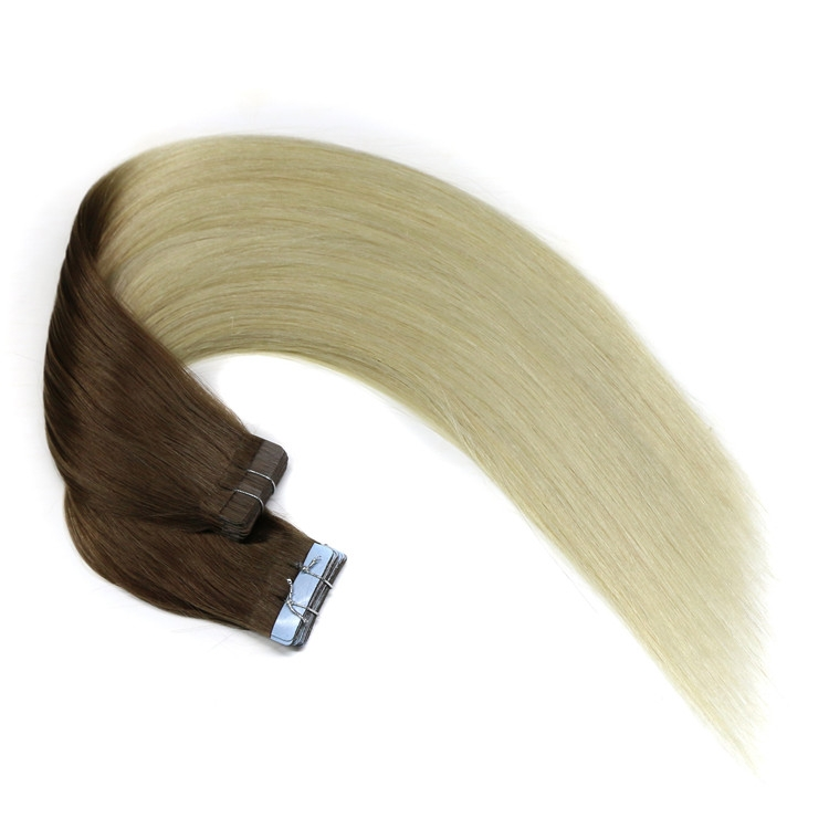 Ombre 2T color no mixed tangle free shedding free PU tape in hair extensions
