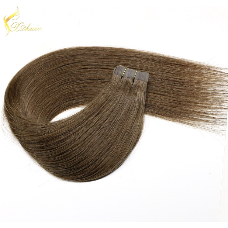 Straight hair for each 5a 6a 7a 8a 100% human hair tape in extension
