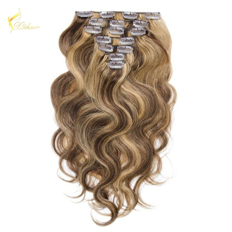 Top Quality China Factory Supply Black Color Remy Double Drawn Clip