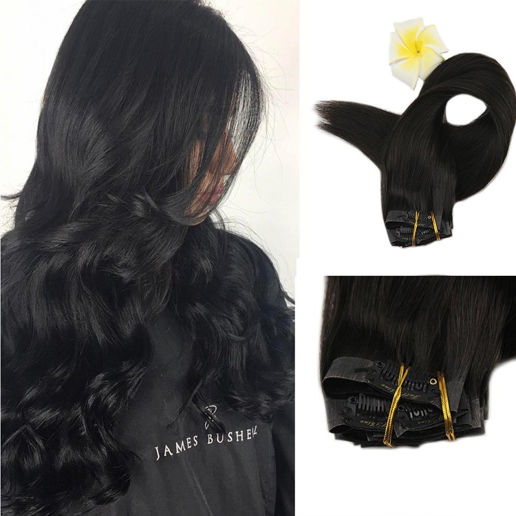Top quality Good Feedback 100% Human Clip In Hair Extension