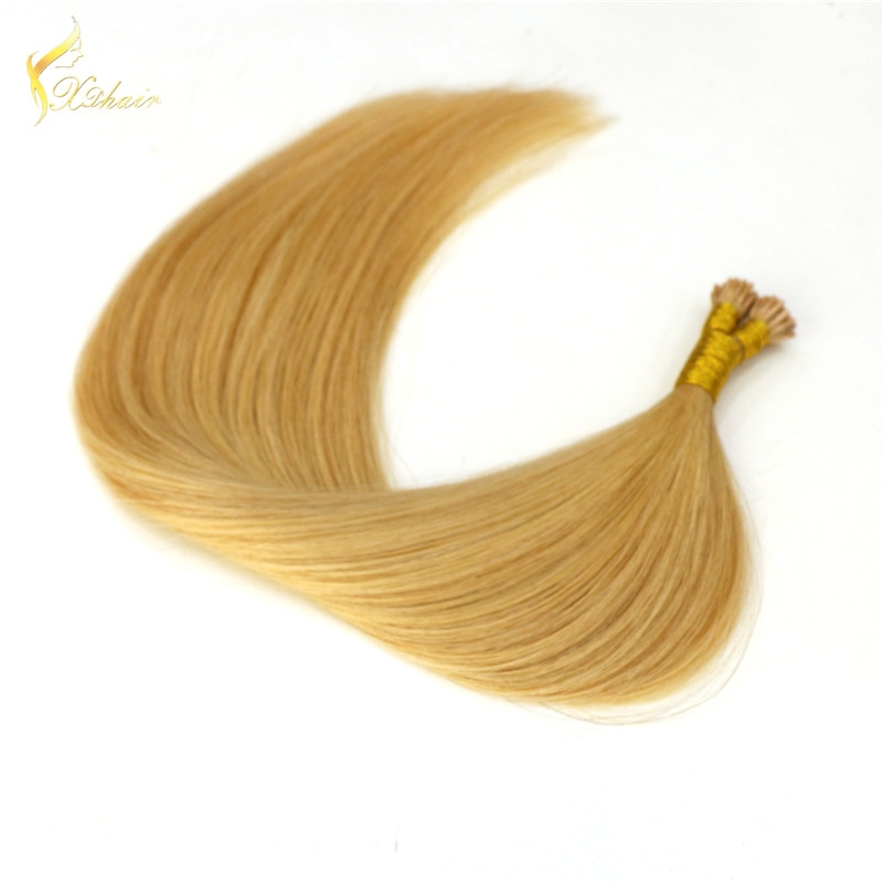 Virgin human hair i-tip human hair Top quality virgin human hair pre-bonded hair extension