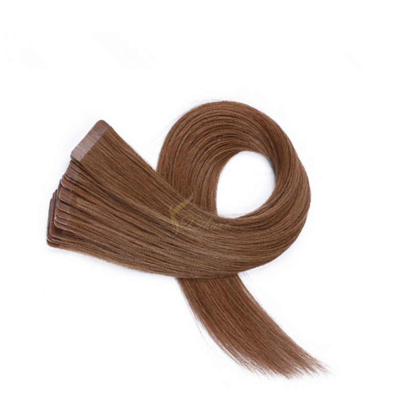 Waterproof invisible tape hair extensions double drawn tape hair extensions 22 inch remy tape hair extensions